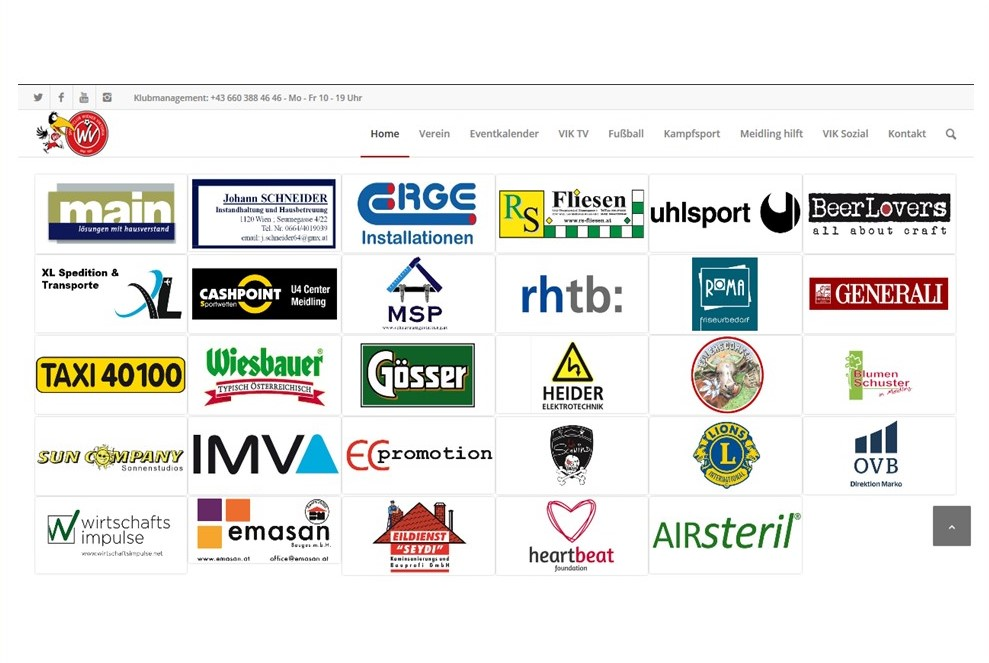 Logoplacement Homepage inkl. Direktverlinkung